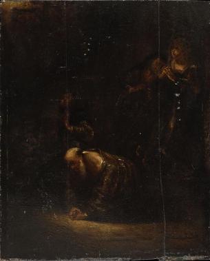 Rembrandt Harmensz van Rijn (1606-1669), peintre, dessina